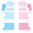 Man and woman bubble talk vector image