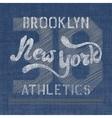 New York athletics label vector image