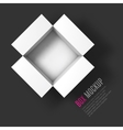 Open box mockup template Top view vector image
