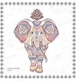 Vintage graphic Indian lotus ethnic vector image