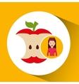 girl cartoon recycle icon organic vector image
