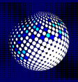 set abstract halftone 3d spheres 29 vector image