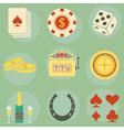 casino icons vector image