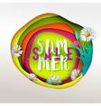 summer sale paper art vector image
