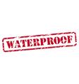 Waterproof rubber stamp vector image vector image