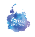 water color spot with a Christmas congratulation vector image