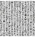 Ancient Egyptian hieroglyphic writing vector image