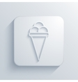 modern ice cream light icon vector image vector image