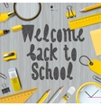 Welcome back to school background vector image