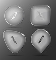 Knife Glass buttons vector image