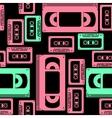 vhs cassette seamless pattern vector image