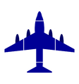 Airplane symbol icon on white vector image