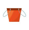 fishing bucket isolated vector image