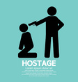 Hostage Graphic Sign vector image