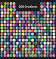 vibrant modern gradient swatches set vector image