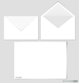 White paper and envelopes vector image