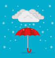 winter weather forecast concept vector image