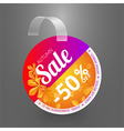 Wobbler design template for autumn sale event vector image