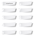Blank white advertising coupon cut from alphabet vector image