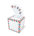 International correspondence letterbox concept vector image