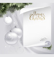 Holiday background with fir tree branches evening vector image vector image