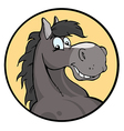 Happy Cartoon Horse vector image vector image
