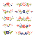 Decorative colorful floral compositions set 2 vector image vector image