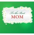 mothers day background with daisies vector image