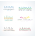 Set of music wave logo elements vector image