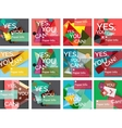 Set of square shaped banners or background layouts vector image vector image