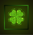 Four-leaf clover on a green background vector image vector image