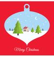 christmas ball red card vector image