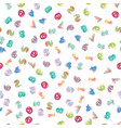 colorful numbers pattern vector image