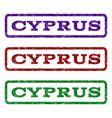 cyprus watermark stamp vector image