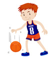 Man playing basketball alone vector image