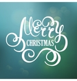 Merry Christmas hand lettering for greeting vector image