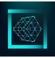 Mesh polygonal background Scope of lines and dots vector image