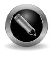 Metallic pencil button vector image