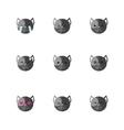 minimalistic flat dog emotions icon set vector image
