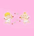 valentines day concept flat cartoon vector image