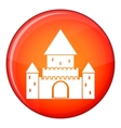 Chillon Castle Switzerland icon flat style vector image