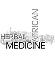 african herbal medicine text word cloud concept vector image