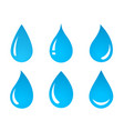 set of water drop icons vector image vector image