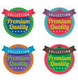 Set of Colorful Round Labels vector image