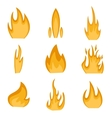 Collection of fire icons vector image