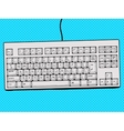 Computer keyboard hand drawn pop art style vector image