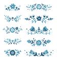 Decorative floral compositions set 2 vector image