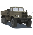 Military heavy truck vector image