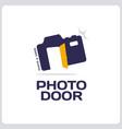 modern professional sign logo phoro door vector image
