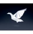 Paper Dove vector image